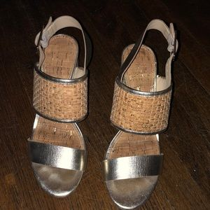 Donald J Pliner Platino woven and cork sandal